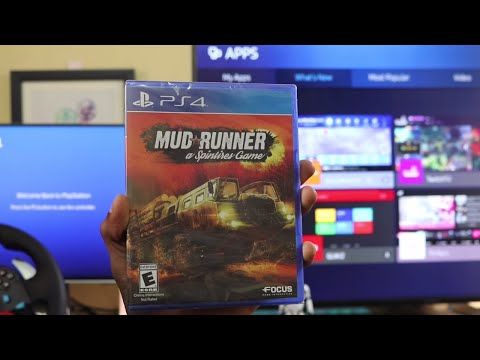 SPINTIRES MUD RUNNER Unboxing For PS4 PRO