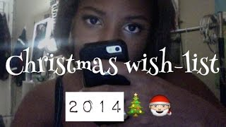 Christmas Wishlist 2014 Thumbnail