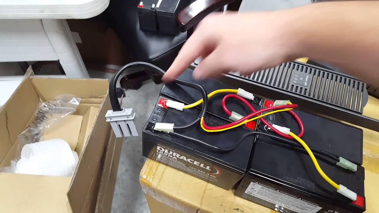 APC Smart UPS SC 1500 Battery Wiring Diagram  YouTube