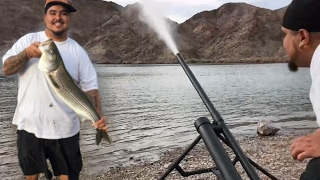 Homemade Fishing Cannon - Blasts Bait 200+ Yards With No Problem - Reach Huge Fish Out Deep