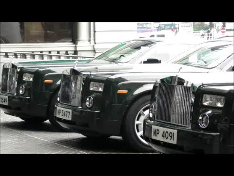 Rolls Royce Cars of the Peninsula Hotel in Hong Kong.