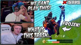 Tfue & Ninja REFUSE To Play Fortnite After SUFFERING From The WORST Bug Ever Added...