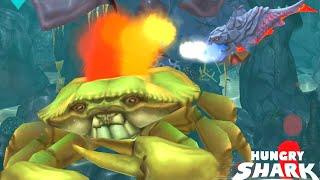 Pyro Shark Vs Robo Shark Vs Ice Shark Vs Giant Crab | Hungry Shark Evlution