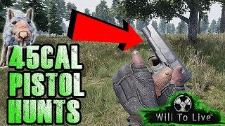 Will to live online 45 cal 1911 pistol Hunting with it