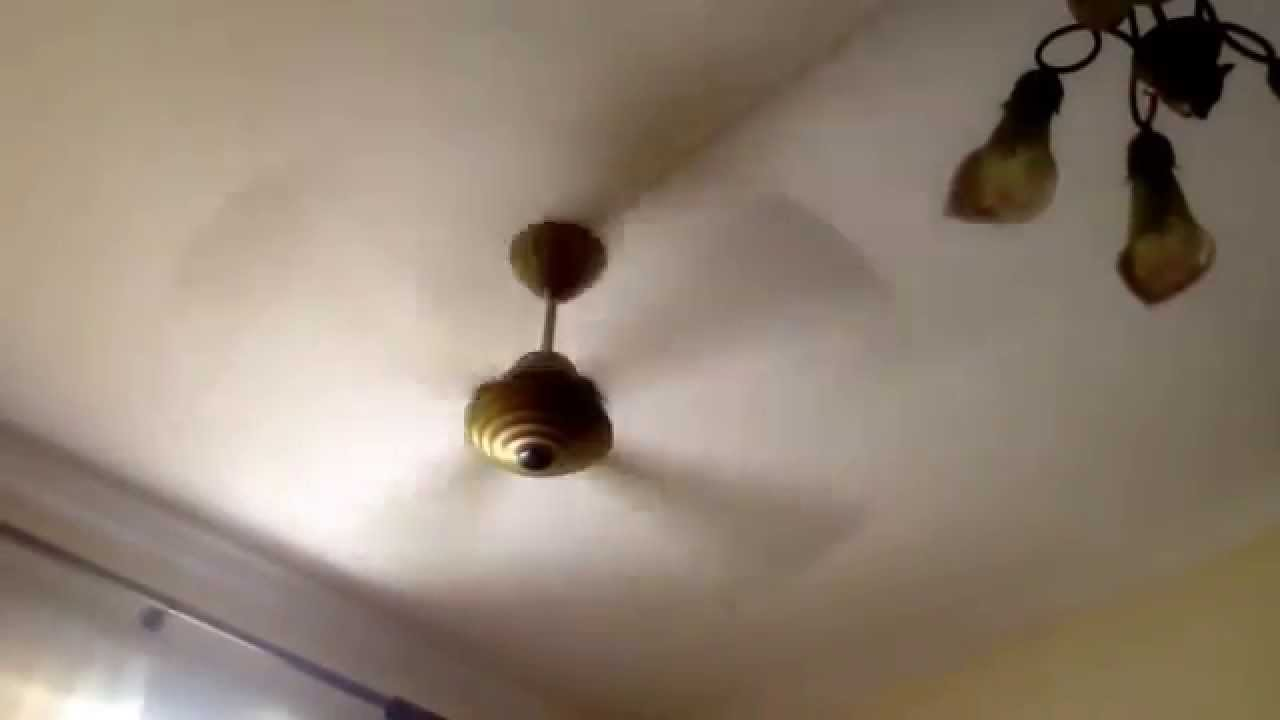 My ceiling fan spinning - YouTube