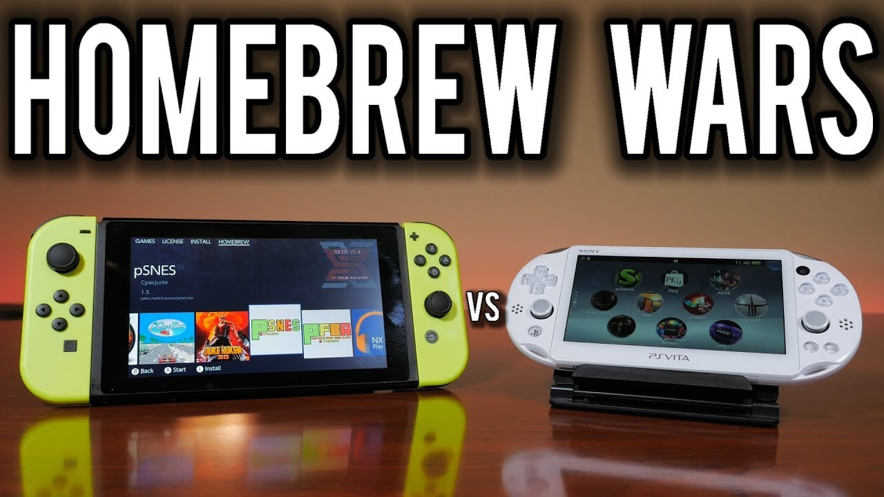 Homebrew Wars - Nintendo Switch vs PlayStation Vita | MVG : SwitchHaxing
