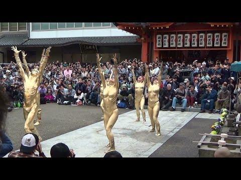 金粉ショウ(大駱駝艦)大光院(大須大道町人祭2013)(1/4)