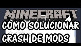 Como resolver o erro crash report em mods