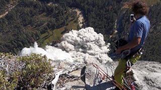 Veteran climber captures terrifying video of rock slides in Yosemite National Park