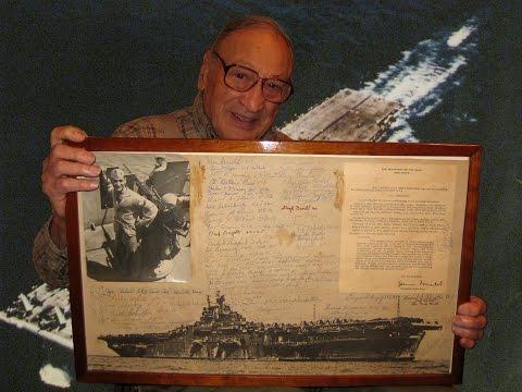 Ed Sarkisian - USMC WWII Veteran - USS Yorktown Bugler - Interview Segment 1