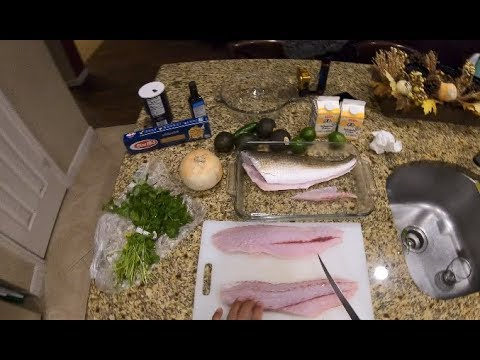 Grilled Redfish With Cilantro Lime Avocado Sauce, Cooking Your Catch