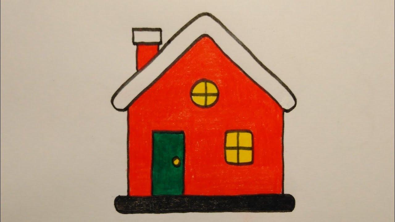 สอนวาดรูปบ้านซานตาคลอสแบบง่ายๆ  Drawing a cute  Santa House  easy  My  Sky  Channel.
