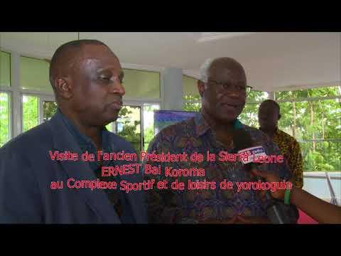 Visite de l'ancien Présidents de la Sierra Leone