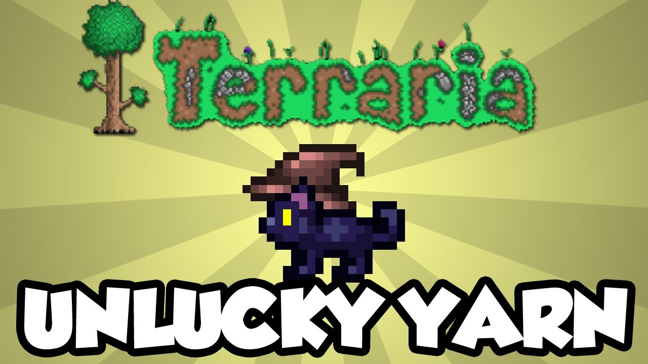 Terraria 1 2 1 Unlucky Yarn Halloween Update Cool Pet Kitty Terraria Halloween Youtube