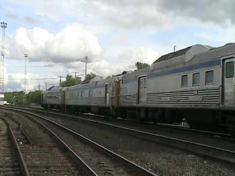 Via Rail Canada Budd Car S In Greater Sudbury Youtube