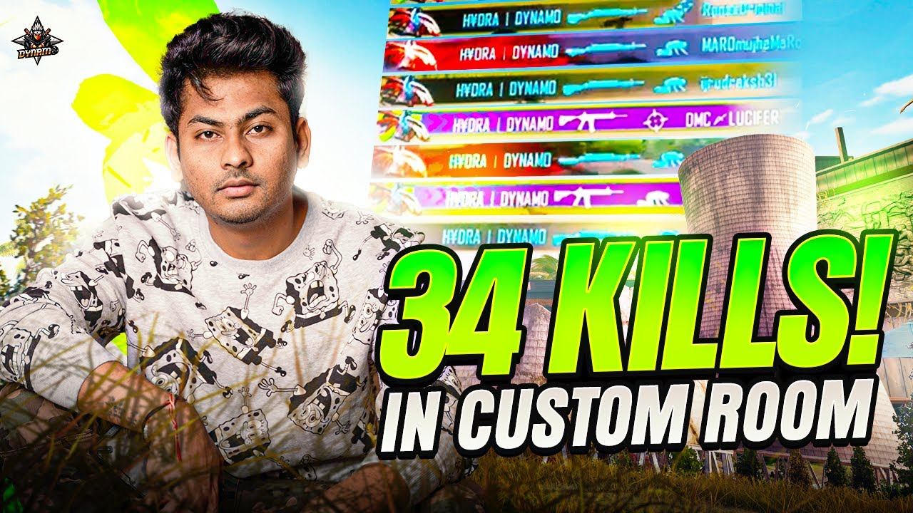34 KILLS IN SPECIAL CUSTOM ROOM | BATTLEGROUNDS MOBILE INDIA WITH DYNAMO GAMING