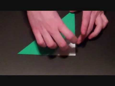 Origami Lily Part 2 Stem Leaf Youtube