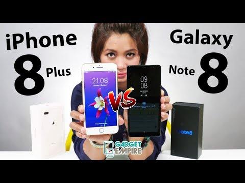 Galaxy Note 8 Vs IPhone 8 Plus !? Tonton Dulu Baru Pilih [ Eng-Sub ]