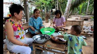 Cô Tư dạy làm bánh Mặn nhân Tôm - Hương vị đồng quê - Bến Tre - Miền Tây