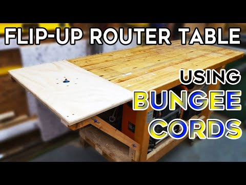 How to Make a Flip Up Router Table - Easy DIY Workshop Upgrade