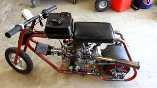 Roots Supercharged Mini Drag Bike Startup/Rev