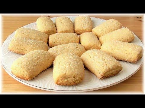 Рецепт песочного печенья на растительном масле -