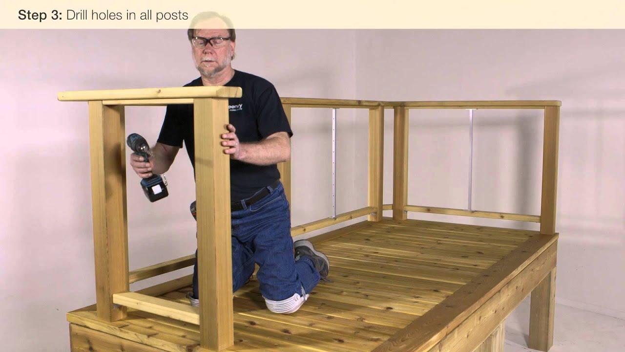 Feeney Cablerail Wood Level Railing Installation Video