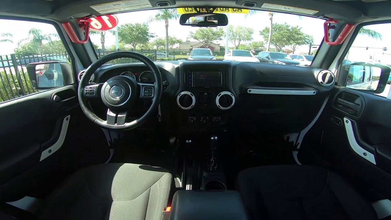 2016 Jeep Wrangler Unlimited Sport Interior Youtube