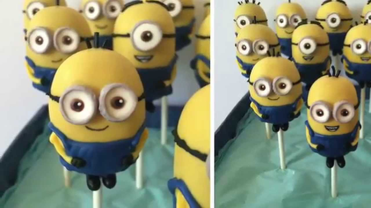 Images Of Minion Cake Pops : Minion Cake Pop Tutorial - YouTube