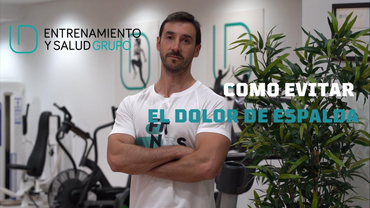 Cómo evitar el dolor de espalda