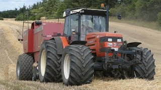 Same Titan 190 w/ HUGE Tires Working Hard in The Field Baling w/ Case IH 8580 Baler | DK Agri