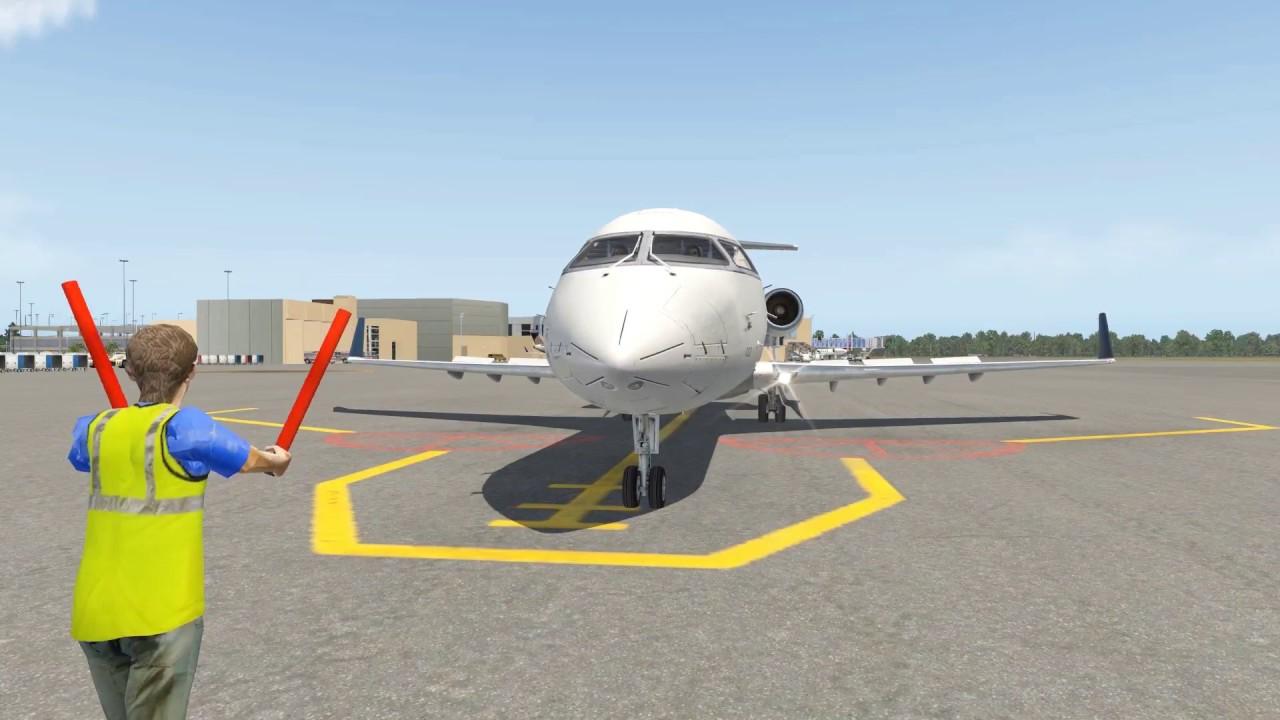 X-Plane 11 CRJ-200 with BSS Sound | KATL Atlanta to KBTR Baton Rouge