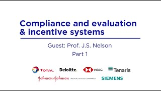 Compliance and evaluation & incentive systems. Part 1