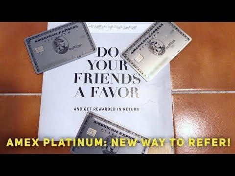 Amex Platinum: NEW Way To Refer Friends!