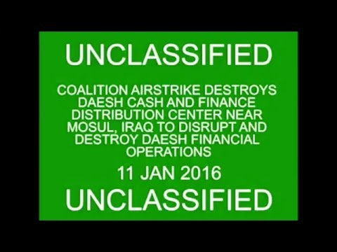 US airstrike Destroying ISIS Cash Stockpile in Iraq