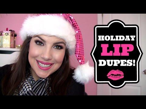5 Drugstore Holiday Lipstick Dupes!