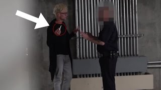 Vanishing Weed In front of a COP PRANK!