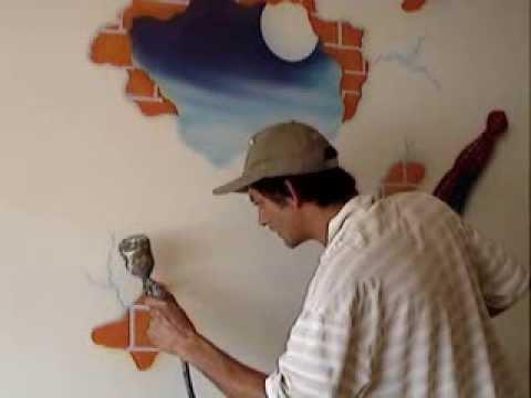 Pinturas decorativa em paredes de quartos de beb e for Pintura decorativa efeito 3d