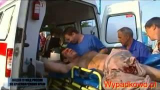 Pościg policyjny i koszmarny wypadek - Rosja