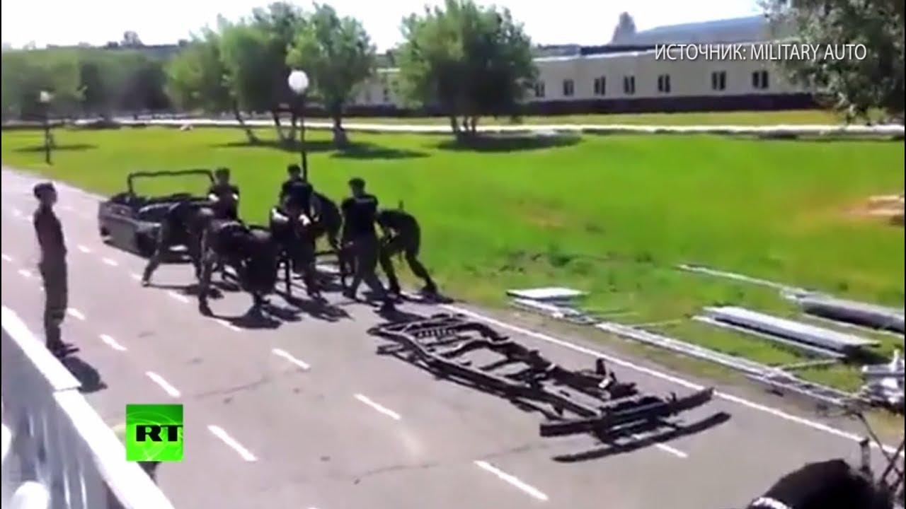 Омские курсанты разобрали УАЗ и собрали его обратно за 3,5 минуты