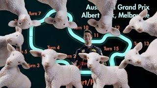 A slot car guide to Albert Park with Daniel Ricciardo and Max Verstappen