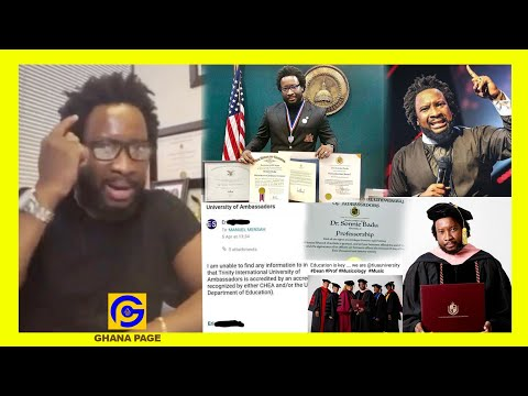 Sonnie Badu finally reacts to allɛgations of buying 4 fakɛ Doctorate Degrees in 4 months