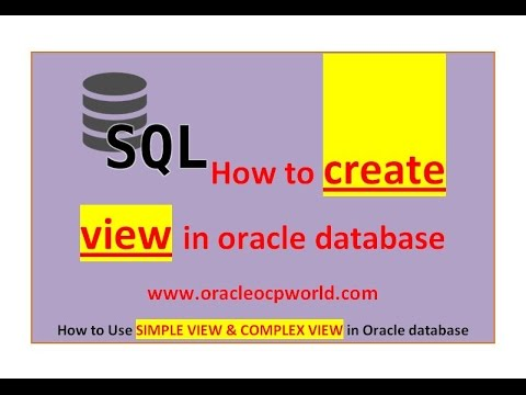 Sql Tutorial - How to create Views in oracle database