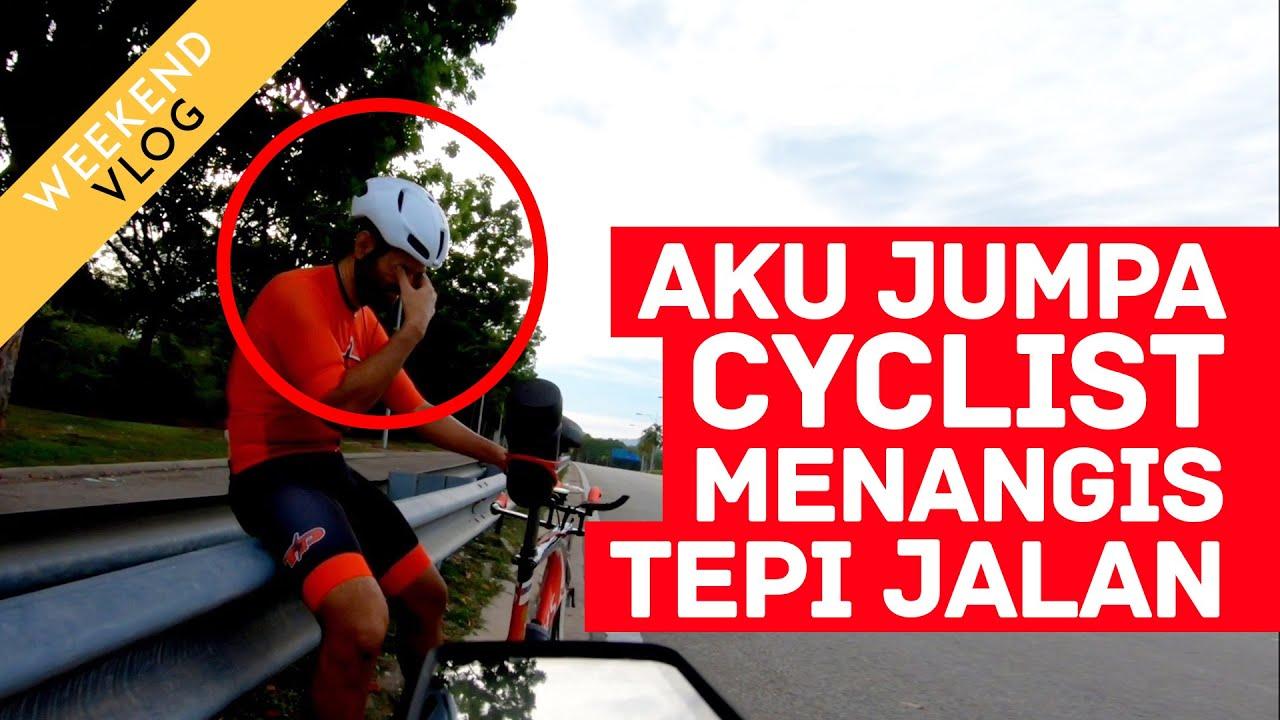 BONK TERUK! Jumpa cyclist menangis tepi jalan.