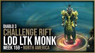 Diablo 3 - Challenge Rift Week 159 - LOD LTK Monk - Season 21 - NA