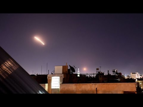Syria's Air Defenses Respond To Israeli Missile Attack Over Damascus