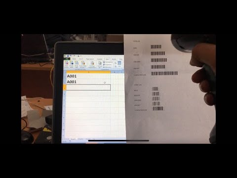 Hướng dẫn tạo Mã vạch, mã QR trên excel ( In ra dùng máy quét được )