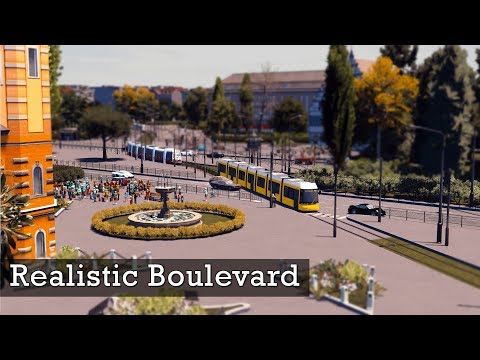 Realistic Boulevard with Trams! | Cities Skylines: Custom Builds
