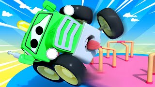 Amber the Ambulance - Baby Ben The Tractor Spins Too Fast on The Roundabout! - Cars videos for kids