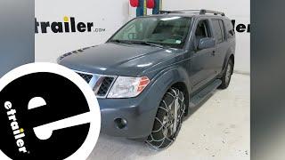 Konig Self-Tensioning Low-Pro Snow Tire Chains Installation - 2010 Nissan Pathfinder